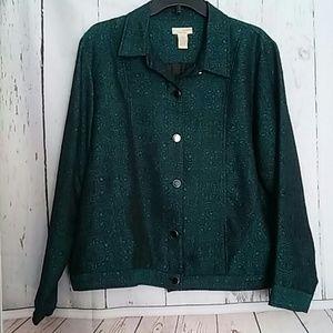 Choices Jacket Green Black sz XL